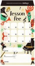 月謝袋 vivace ※お取り寄せ商品 引き出物 記念品 音楽雑貨 音符 ピアノモチーフ ト音記号 ピアノ雑貨