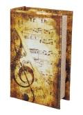 アンティークブック型オルゴール ※お取り寄せ商品 【音楽雑貨 音符・ピアノモチーフ】ト音記号 ピアノ雑貨c