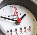 ハッピーマーチ カンクロック ※お取り寄せ商品 【音楽雑貨 音符・ピアノモチーフ】ト音記号 ピアノ雑貨