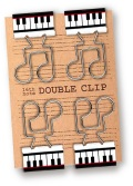 ダブルクリップ 鍵盤 ※お取り寄せ商品 【音楽雑貨 音符・ピアノモチーフ】ト音記号 ピアノ雑貨
