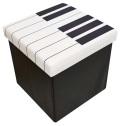スツールボックス ※お取り寄せ商品 【音楽雑貨 音符・ピアノモチーフ】ト音記号 ピアノ雑貨
