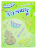 ポケットファイル ※お取り寄せ商品 引き出物 記念品 音楽雑貨 音符 ピアノモチーフ ト音記号 ピアノ雑貨