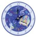 掛置時計 ファンシーミュージック ※お取り寄せ商品 引き出物 記念品 音楽雑貨 音符 ピアノモチーフ ト音記号 ピアノ雑貨