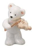 ベアー マスコット ホワイト バイオリン 楽器 【音楽雑貨 ピアノ雑貨】 この商品はお取り寄せ商品です♪音符 ピアノ 楽器 音楽雑貨