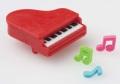 消しゴム ピアノ赤 ※お取り寄せ商品 【音楽雑貨 音符・ピアノモチーフ】ト音記号 ピアノ雑貨
