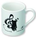 LD マグカップ ※お取り寄せ商品 引き出物 記念品  【音楽雑貨 音符・ピアノモチーフ】ト音記号 ピアノ雑貨c