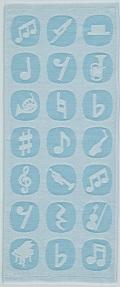 ジャガード織 今治フェイスタオル ※お取り寄せ商品 【音楽雑貨 音符・ピアノモチーフ】ト音記号 ピアノ雑貨c