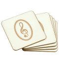クラッシィコースター 5枚セット ※お取り寄せ商品 【音楽雑貨 音符・ピアノモチーフ】ト音記号 ピアノ雑貨