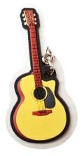 アコースティックギター ラバーズ キーホルダー 【音楽雑貨専門店】♪この商品はお取り寄せ商品です♪【発表会】ブラスバンド 吹奏楽部