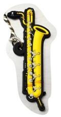 バリトンサックス ラバーズ キーホルダー 【音楽雑貨専門店】♪この商品はお取り寄せ商品です♪【発表会】ブラスバンド 吹奏楽部