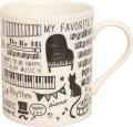 ML マグカップ ※お取り寄せ商品 【音楽雑貨 音符・ピアノモチーフ】ト音記号 ピアノ雑貨c