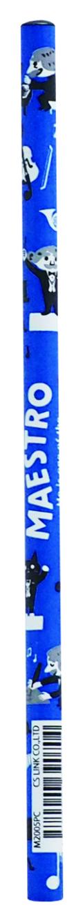 MAESTRO 鉛筆(2B) ※お取り寄せ商品 引き出物 記念品 音楽雑貨 音符 ピアノモチーフ ト音記号 ピアノ雑貨