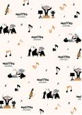 MAESTRO クリアファイル ※お取り寄せ商品 引き出物 記念品 音楽雑貨 音符 ピアノモチーフ ト音記号 ピアノ雑貨