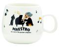 MAESTRO マグカップ ※お取り寄せ商品 引き出物 記念品 音楽雑貨 音符 ピアノモチーフ ト音記号 ピアノ雑貨