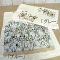 【Shinzi Katoh】「猫のオーケストラ」 フェイスタオル  ※お取り寄せ商品 【音楽雑貨 音符・ピアノモチーフ】ト音記号 ピアノ雑貨