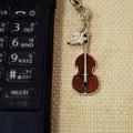 コントラバス 携帯ストラップ♪♪【弦楽器・携帯ストラップ-音楽雑貨】