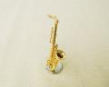 ミニチュア楽器!テナーサックス 1/12 スケール(ゴールド)♪この商品はお取り寄せ商品です♪♪【楽器-音楽雑貨】