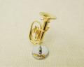 ミニチュア楽器!バリトン 1/12 スケール(ゴールド)♪お取り寄せ商品です♪♪【楽器-音楽雑貨】