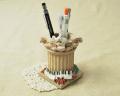 アンティークな雰囲気がおしゃれ♪鍵盤モチーフのペンスタンド♪♪【ピアノ・小物-音楽雑貨】