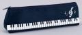 ペンケース 音符鍵盤 ※お取り寄せ商品 【音楽雑貨 音符・ピアノモチーフ】ト音記号 ピアノ雑貨