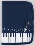 フリーケース 音符鍵盤 ※お取り寄せ商品 【音楽雑貨 音符・ピアノモチーフ】ト音記号 ピアノ雑貨