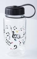 クリアボトル ミュージック 350ml ※お取り寄せ商品 【音楽雑貨 音符・ピアノモチーフ】ト音記号 ピアノ雑貨
