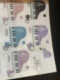 ピアノポーチ※お取り寄せ商品 引き出物 記念品 音楽雑貨 音符 ピアノモチーフ ト音記号 ピアノ雑貨