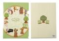 音符の森 クリアファイルA4 ☆※お取り寄せ商品 【音楽雑貨 音符・ピアノモチーフ】ト音記号 ピアノ雑貨