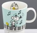 スヌーピー マグカップ ☆※お取り寄せ商品 【音楽雑貨 音符・ピアノモチーフ】ト音記号 ピアノ雑貨