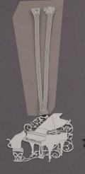 キャットブックマーク シルバーピアノ ※お取り寄せ商品 【音楽雑貨 音符・ピアノモチーフ】