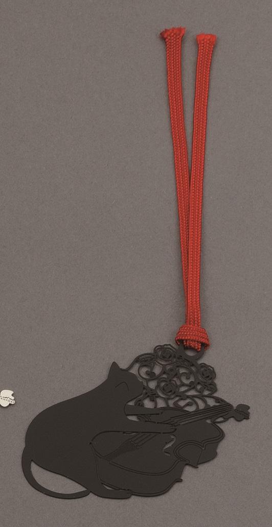キャットブックマーク ブラックバイオリン ※お取り寄せ商品 【音楽雑貨 音符・ピアノモチーフ】