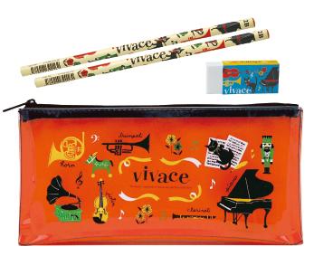 ステーショナリーセット vivace ※お取り寄せ商品 引き出物 記念品  【音楽雑貨 音符・ピアノモチーフ】ト音記号 ピアノ雑貨c