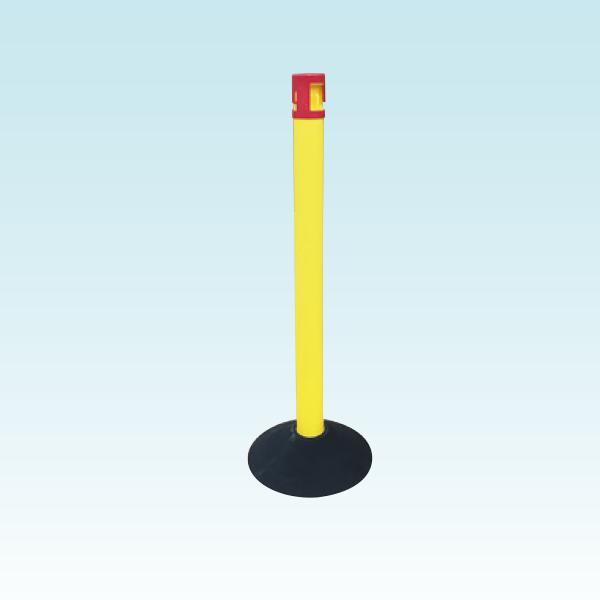 カラープラポールセットキャップロック付き+ピラー+ゴムベース