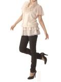 【冷感素材】【裾上げ不可】すらっと美脚くしゅギャザーパンツ【日本製】/43135S