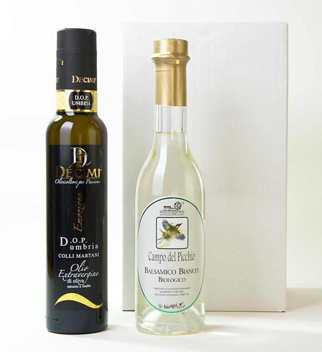 【送料込み】オリーブオイルと白バルサミコ酢のギフトセット