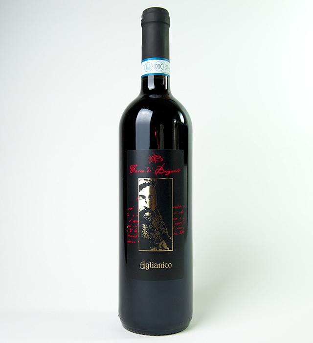 カンパーニャ州の自然派ワイナリー、テッラディブリガンティのしっかりとしたフルボディ赤ワイン、アリアーニコ
