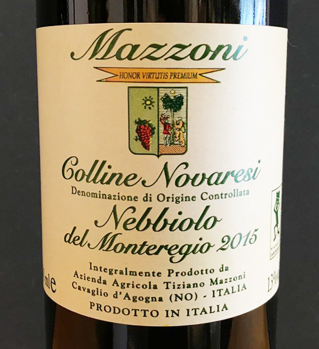 マッツィーニが生産したネッビオーロ