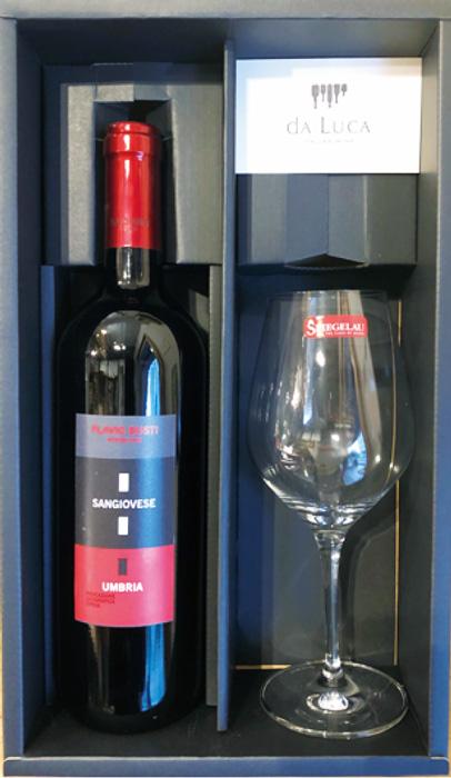 赤ワインとワイングラスのセット