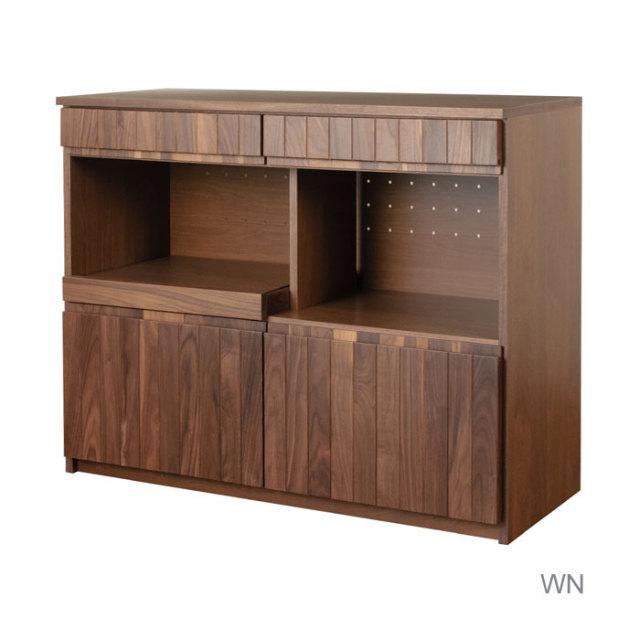 食器棚 完成品 120 日本製 開梱設置込 無垢 グラド カウンターボード 横幅120 クラッセ