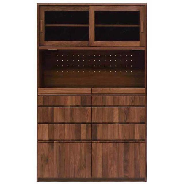 食器棚 完成品 120 日本製 カウンター 開梱設置込 無垢 グラド キッチンボード クラッセ 横幅120