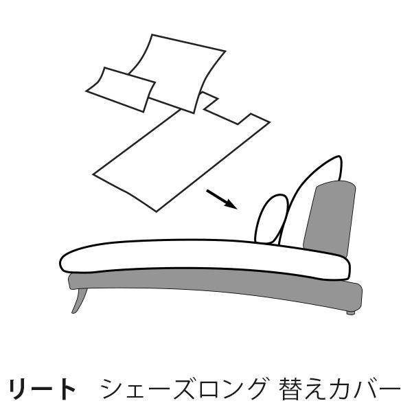 カバー 通常宅配便  替えカバー  リート シェーズロング用 座面と背面のカバー  受注生産品