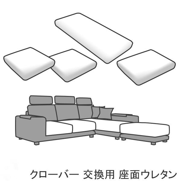 交換用 替座面ウレタンセット クローバー用 カバー別売 受注生産品