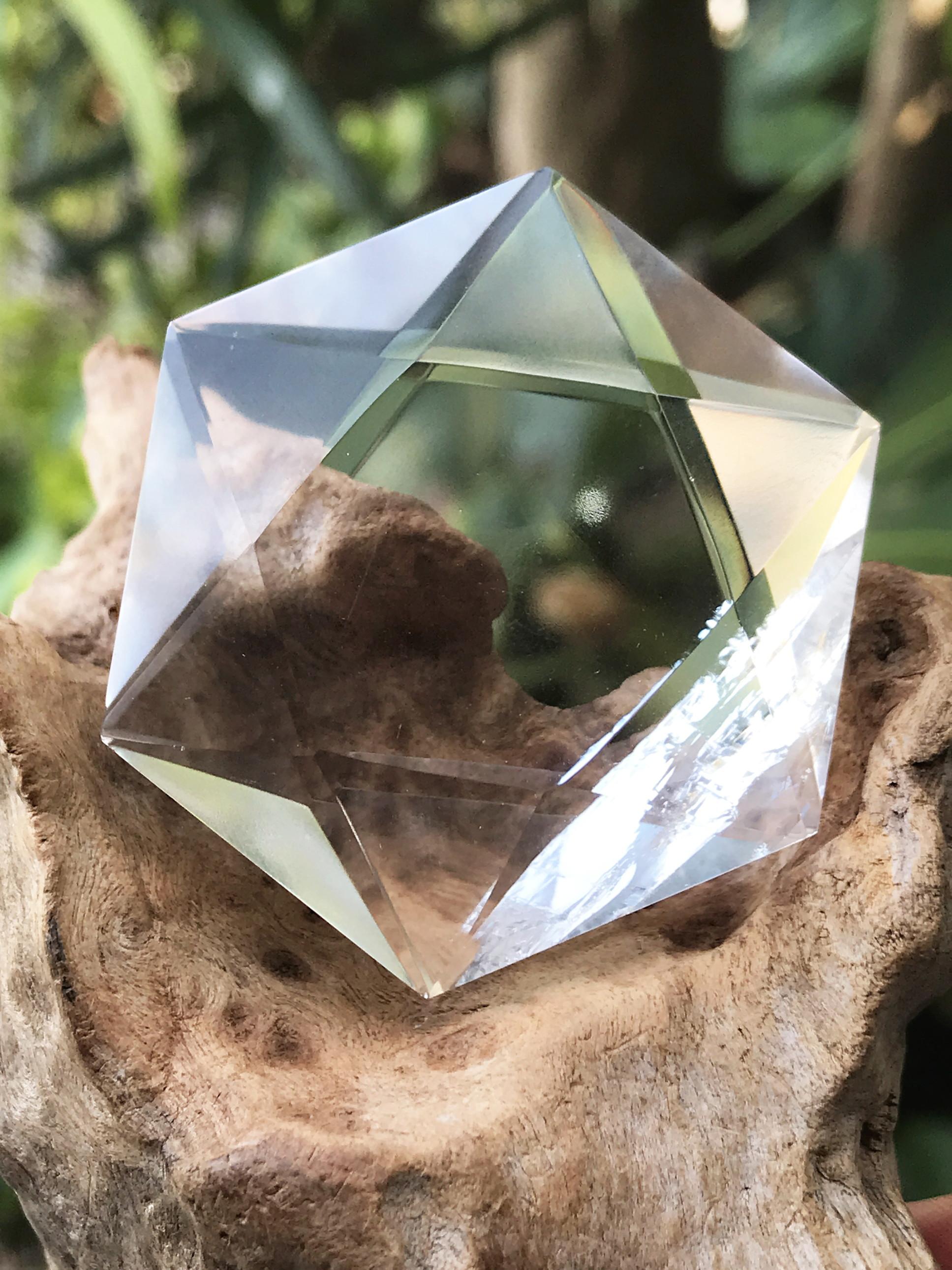 ブラジル産多面体水晶・六芒星 HXG005