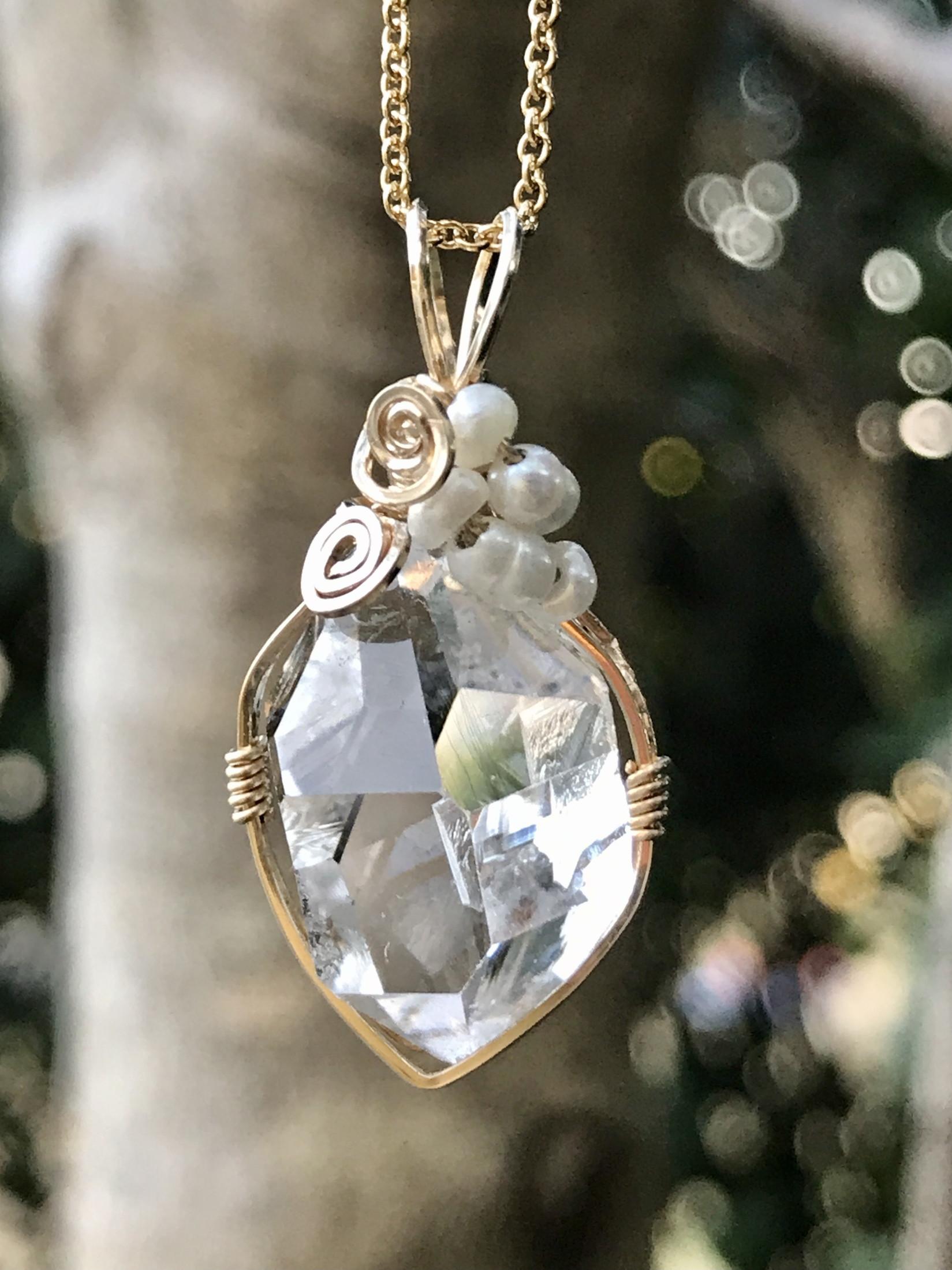 【terra&gaia】ハーキマーダイヤモンド・ペンダント TAG035