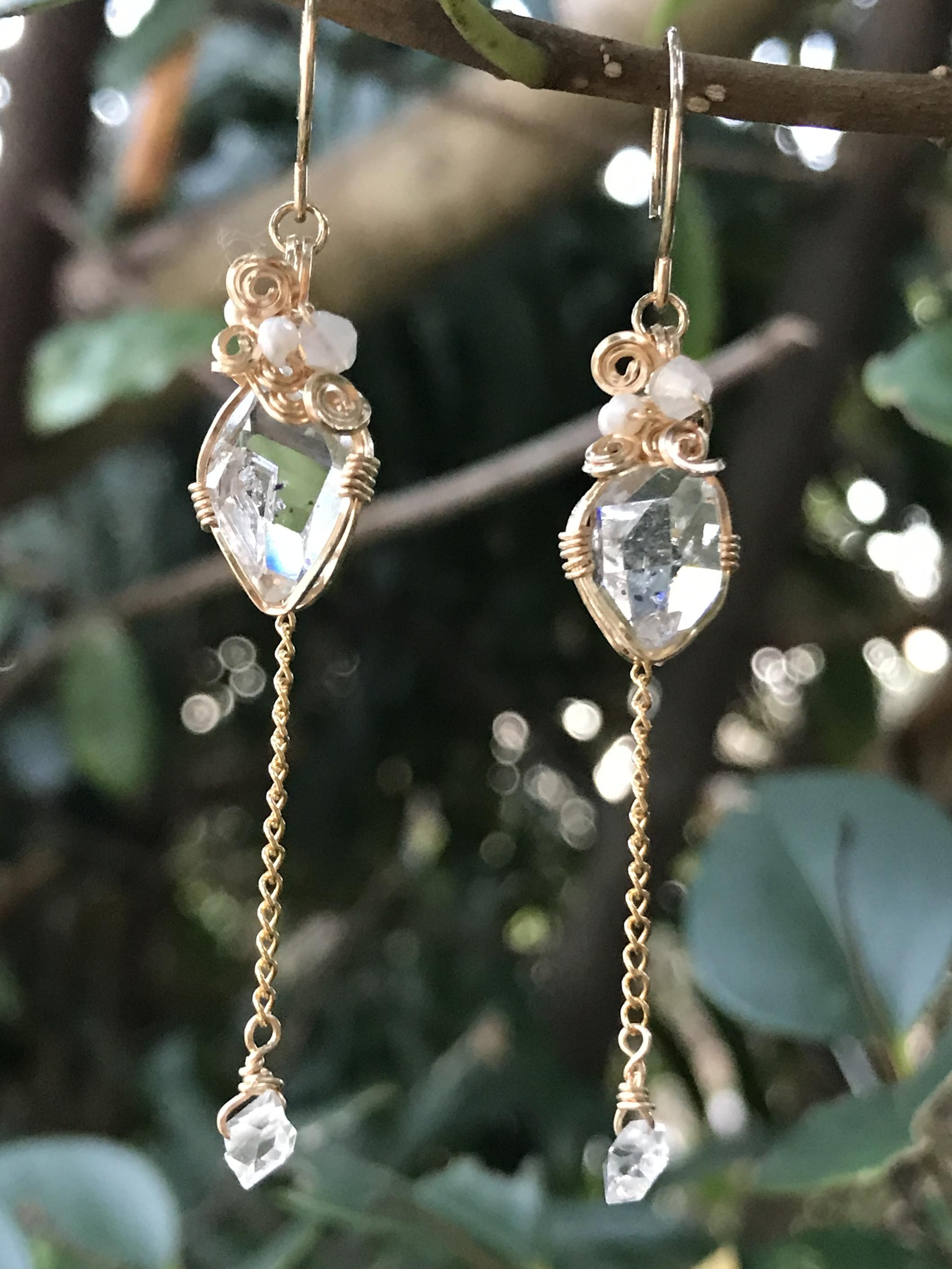 【terra&gaia】ハーキマーダイヤモンドSS・ピアス TAG037