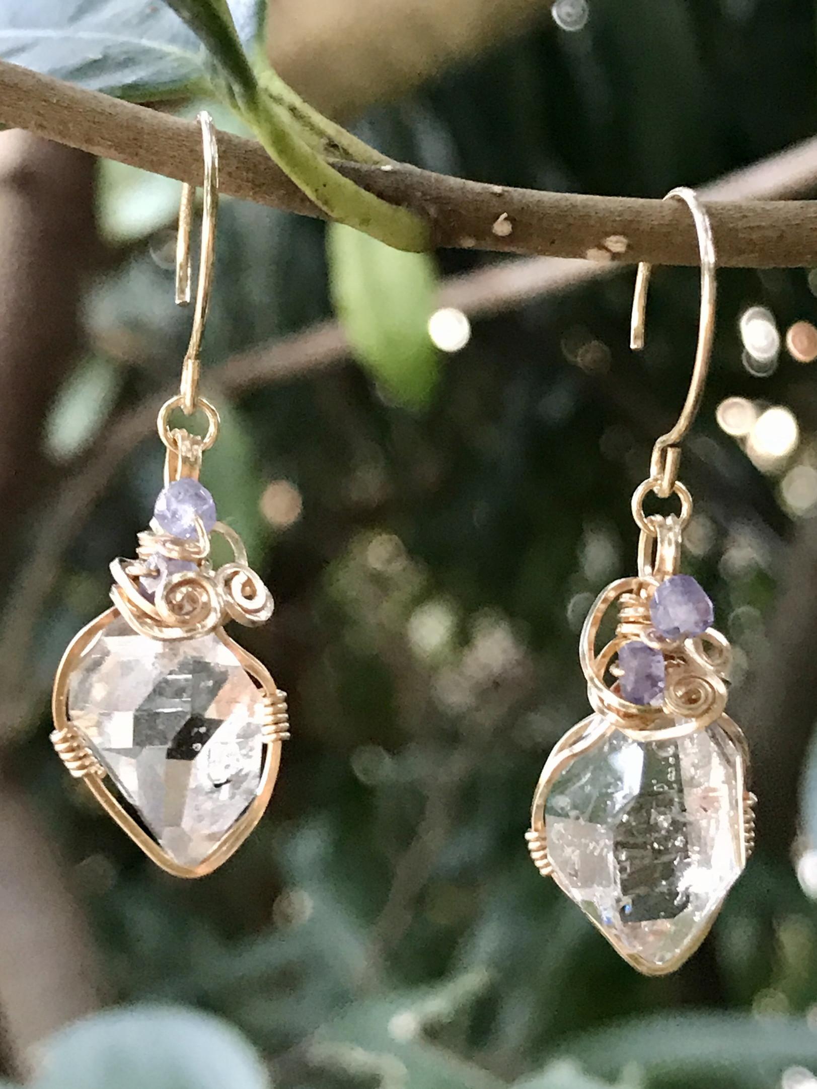 【terra&gaia】ハーキマーダイヤモンドS・ピアス TAG039
