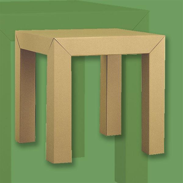 ダンボール家具ハイテーブル