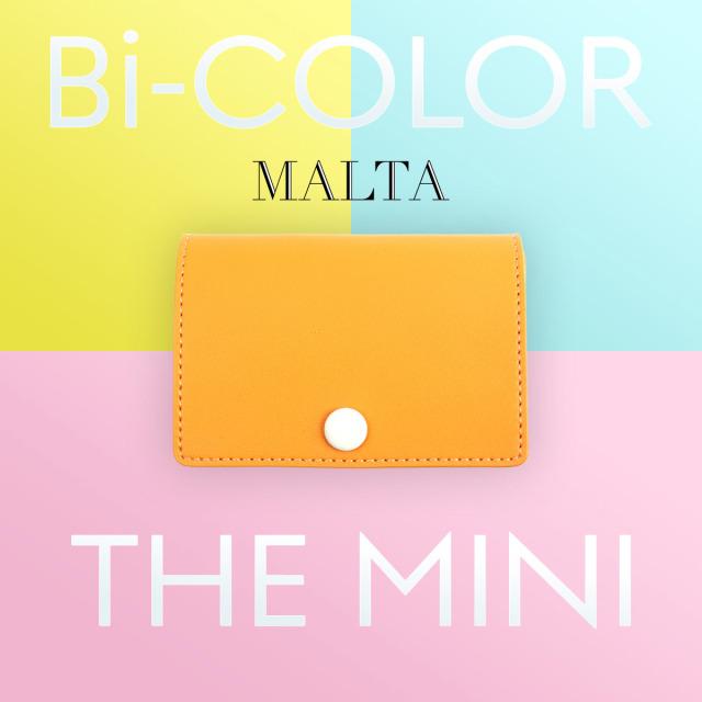 MALTA 牛革 パステル ツートン 三つ折り 財布 全6色