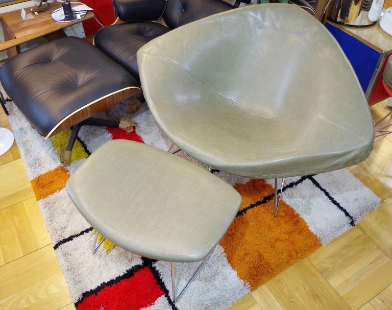 Knoll ノル Large diamond chair ラージダイヤモンドチェア & Ottoman オットマン Vitange ヴィンテージ