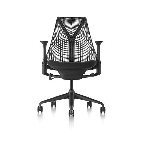 【在庫あり/C7追加】【ハーマンミラー正規販売店】セイルチェア Sayl Chair サスペンションミドルバック ブラック(座面ブラック) 国内定番仕様